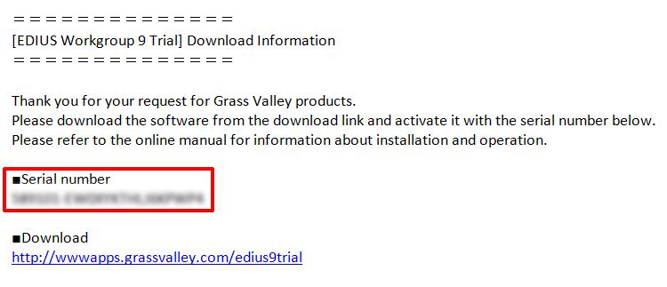 edius 6 serial key download
