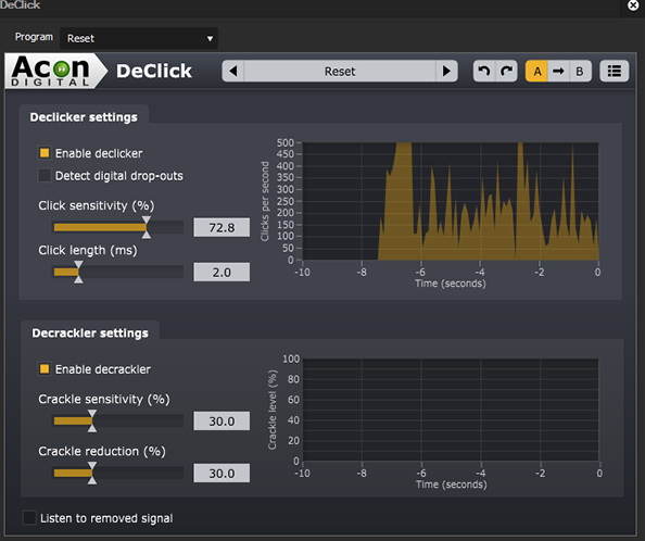 Acon Restoration Suite (VST) - EDIUS