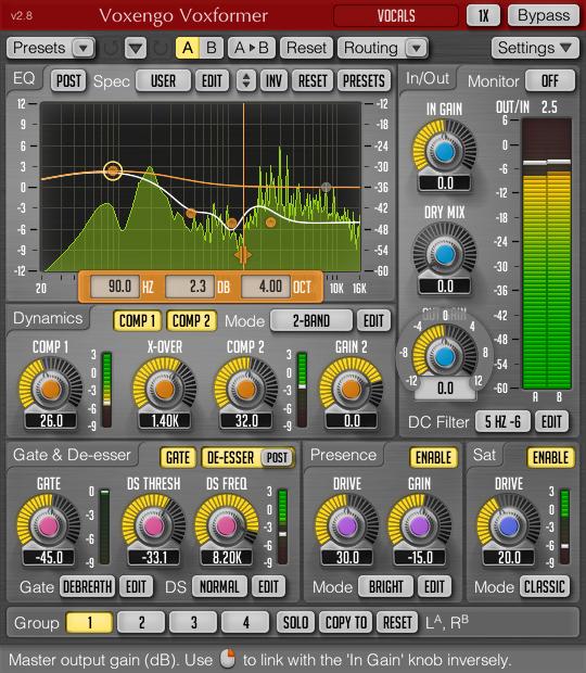 Voxengo Voxformer (VST) - EDIUS